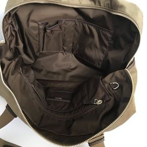 Tumi Bags - Nylon Leather-Trimmed Carry-On Olive Brown TUMI
